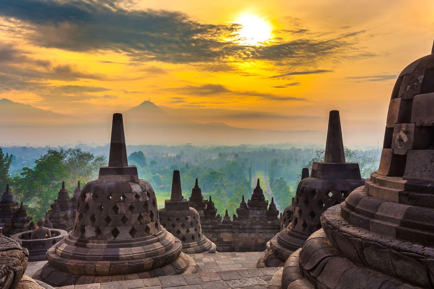 Indonesie Yogyakarta Tempel Natuur