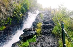 La Palma pad naast waterval hiken