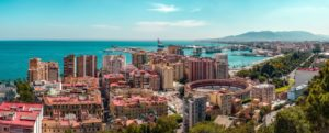 Uitzicht op de haven van Malaga