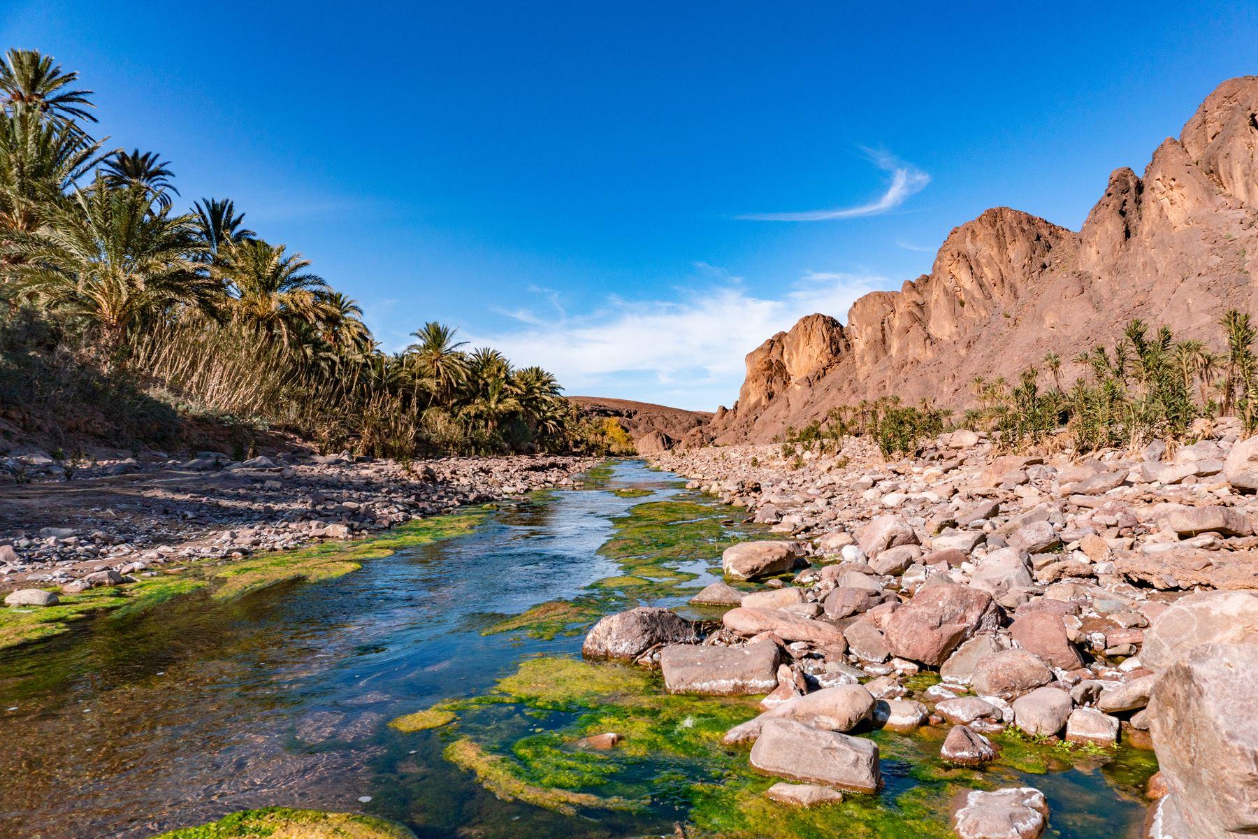 Marokko Rivier Bergen Natuur
