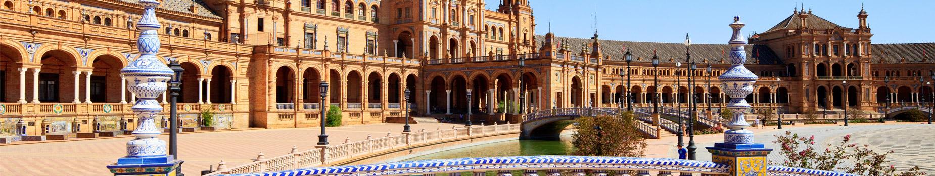 Plaza Espana in Andalusië